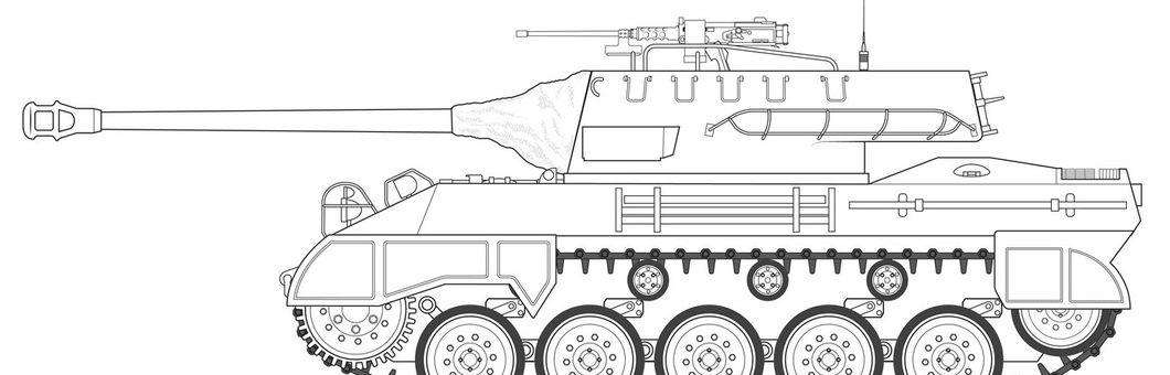 A1371 M18 Hellcat LINE ARTWORK