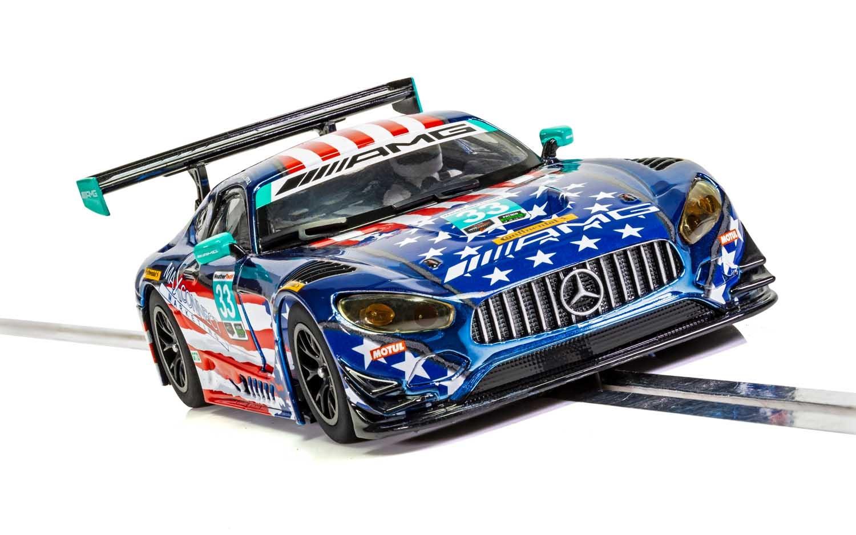 Slot Car Scalextric Superslot H4023 Compatible Mercedes-AMG GT Riley Motorsports 2018 No.33